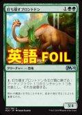 《打ち壊すブロントドン/Thrashing Brontodon》FOIL【ENG】[M20緑U]