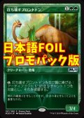 《打ち壊すブロントドン/Thrashing Brontodon》FOIL【JPN】[---緑S]
