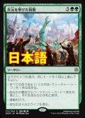 《次元を挙げた祝賀/Planewide Celebration》【JPN】[WAR緑R]