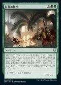 《巨怪の猛攻/Monstrous Onslaught(244)》【JPN】[CMR緑U]